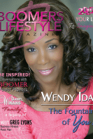 Wendy Ida on the cover of Boomers Lifestyle magazine