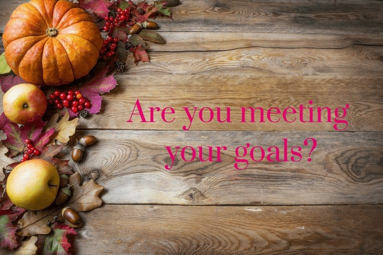 Fall Is Coming – Are You Meeting Your Goals?